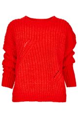 Topshop Knitted Moving Rib Jumper - Lyst
