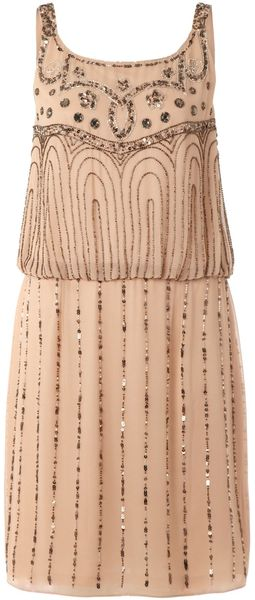 Untold Beaded Pattern Sleeveless Dress - Lyst