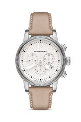 Burberry Leather Strap Chrono Watch 42mm - Lyst