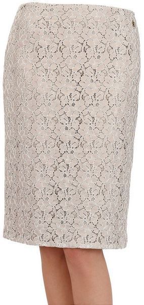 John Galliano Cotton Blend Lace Skirt - Lyst