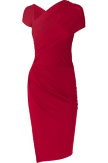 Donna Karan New York Draped Stretchjersey Knot Dress - Lyst