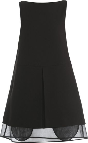 Maison Martin Margiela Pleat Front Shift Dress - Lyst