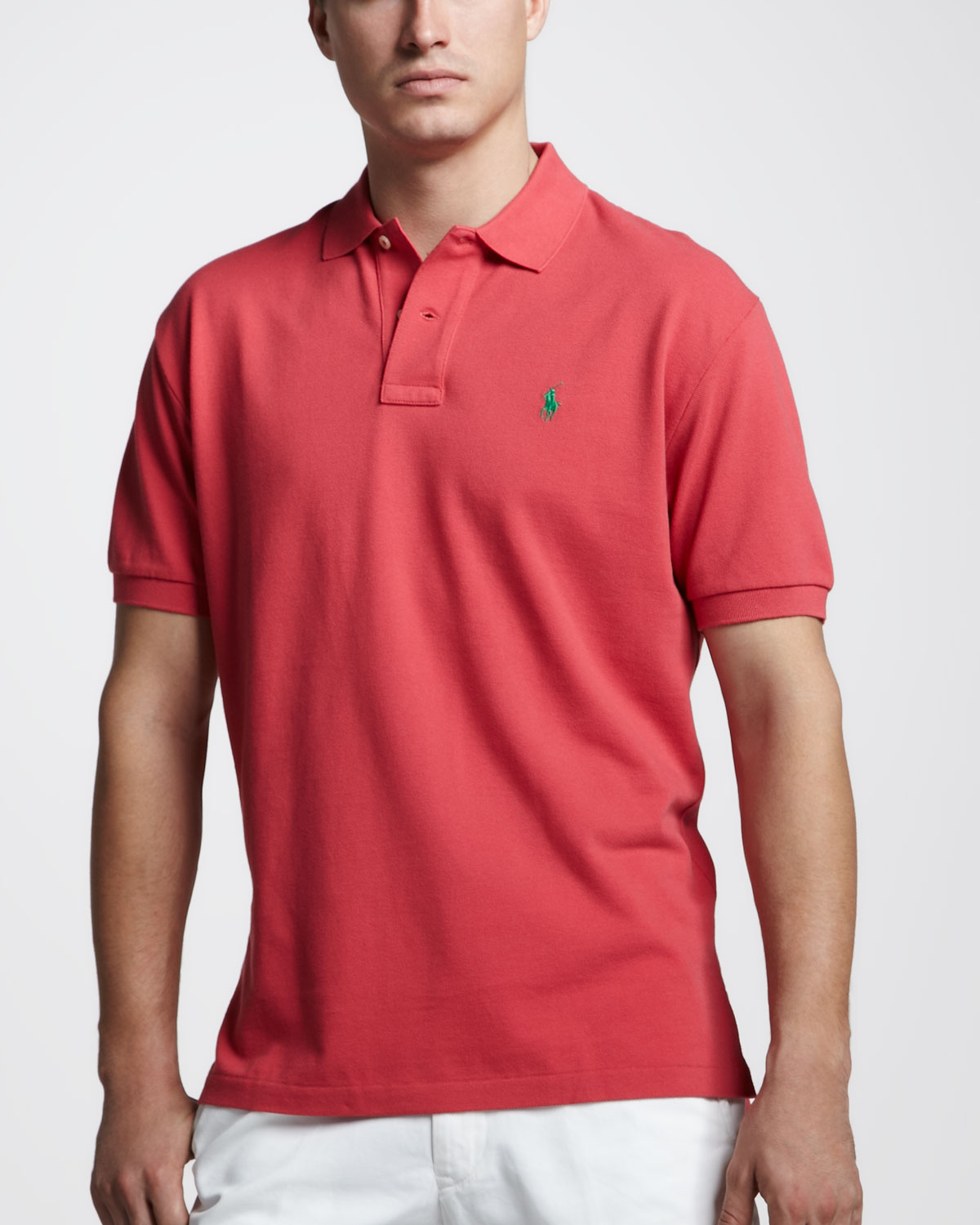 Polo Ralph Lauren Men Stickup Pink Custom-Fit Mesh
