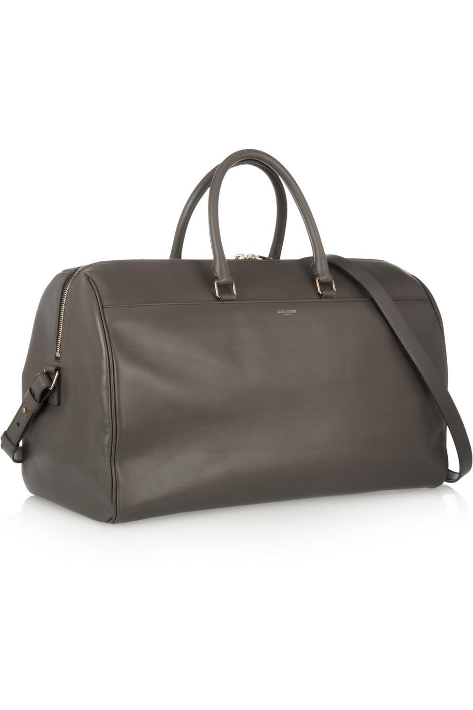 f3efba905e35 Saint Laurent Classic Duffle 24 Leather Bag in Gray - Lyst