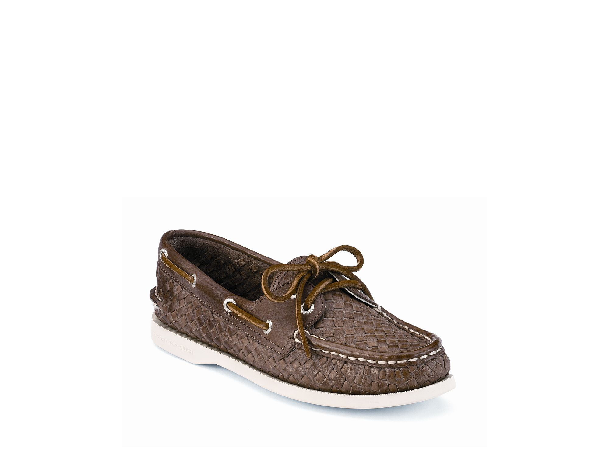 Sperry Woven Leather Boat Shoe