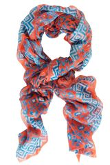 Temperley London Leopard Tile Scarf - Lyst