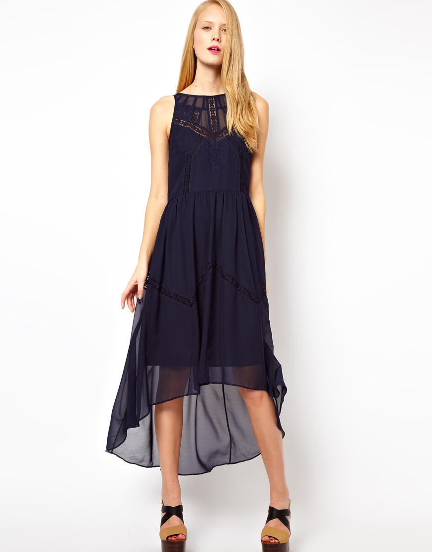 High Low Midi Dress