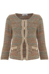 Liu Jo Long Sleeved Pearl Button Boucle Jacket - Lyst