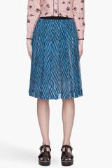 Marni  Silk Lattice Print Pleated Skirt - Lyst