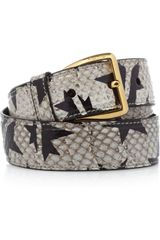 Miu Miu Handpainted Watersnake Waist Belt - Lyst