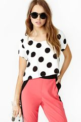 Nasty Gal Seeing Spots Crop Tee - Lyst