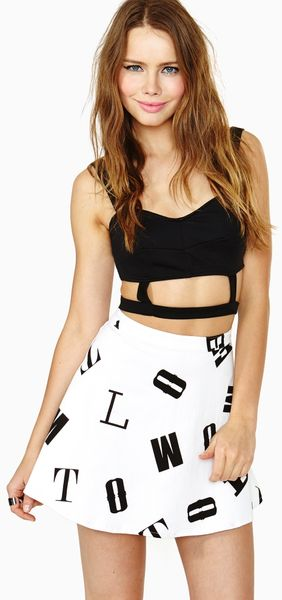 Nasty Gal Spell Trouble Skirt - Lyst