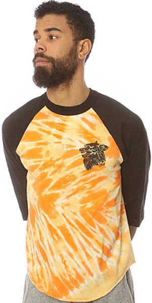 Obey The Hell Hound Tie Dye Baseball Raglan  - Lyst