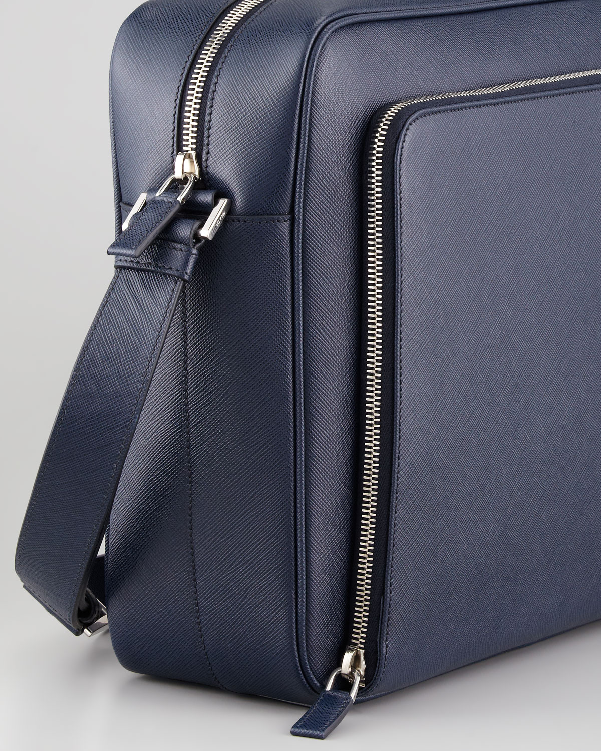 adfa87ae2c6534 ... usa prada saffiano ipad messenger bag in blue for men lyst 6fe10 62fdc