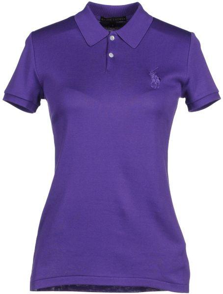Ralph lauren black label polo shirts in purple dark for Black ralph lauren shirt purple horse