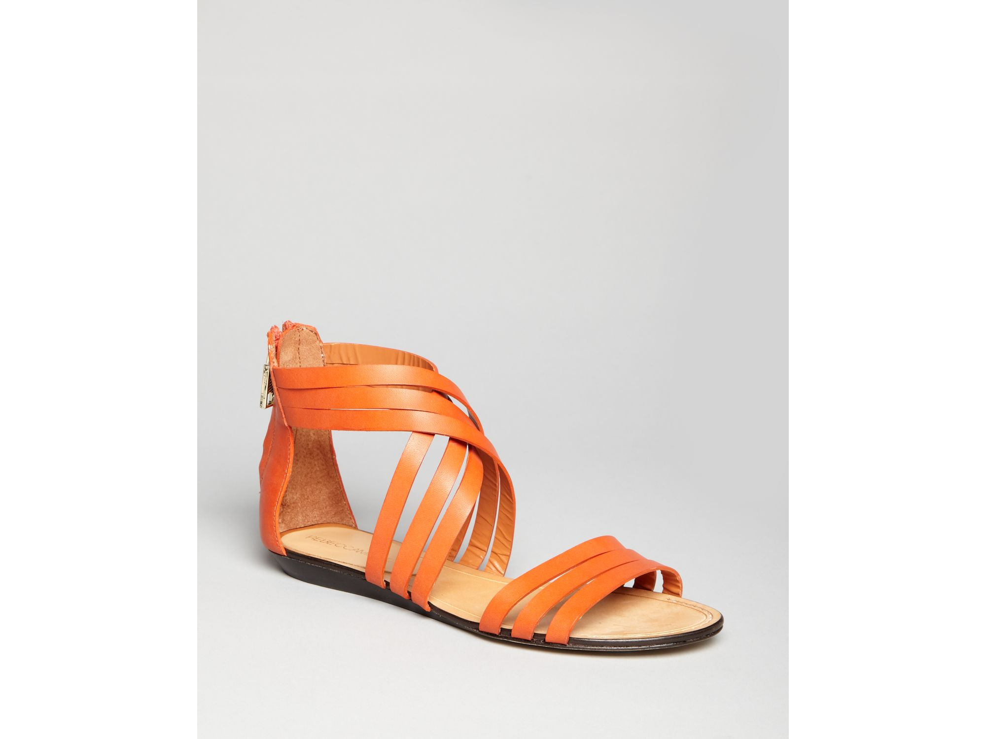 Rebecca Minkoff Sandals Jura Flat In Orange (mango Red)   Lyst