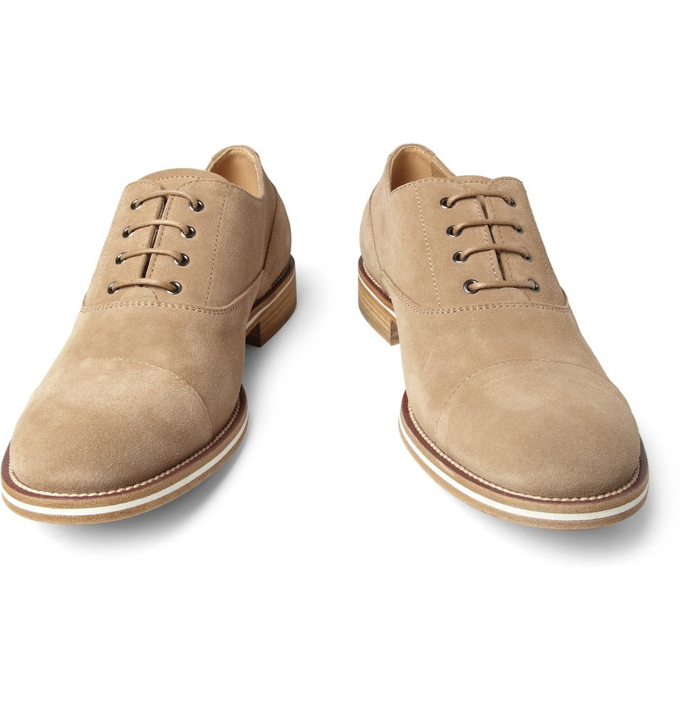 tod s suede oxford shoes in brown for lyst