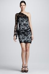 Emilio Pucci One-Shoulder Lace Dress - Lyst