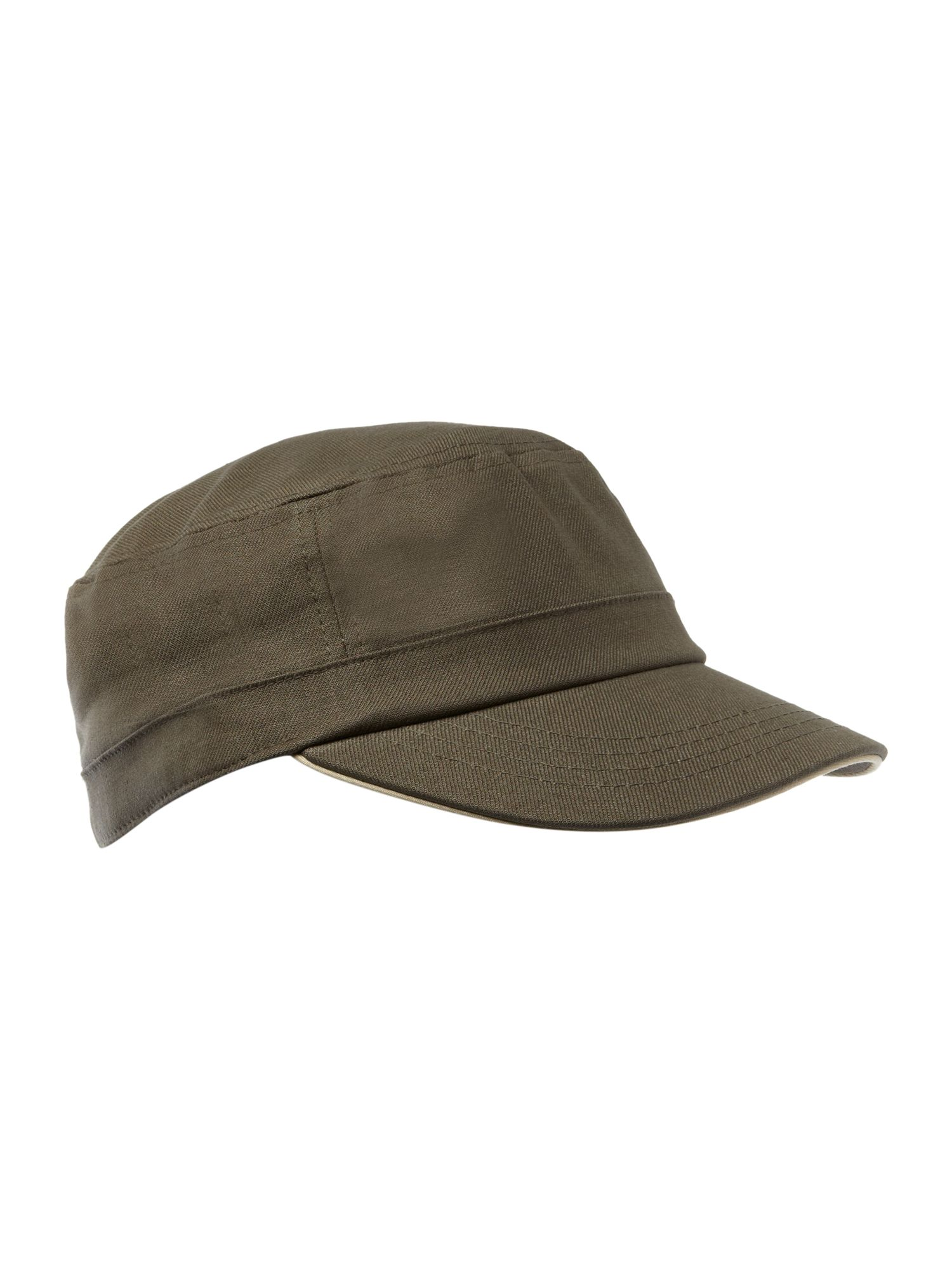 fred perry military cap in brown for men khaki lyst. Black Bedroom Furniture Sets. Home Design Ideas