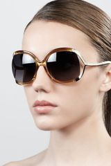 Jimmy Choo Beatrix Opentemple Round Sunglasses - Lyst