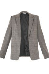 L'Agence Grey Check Jacket