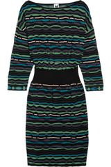 M Missoni Cutout Patterned Knitted Dress - Lyst