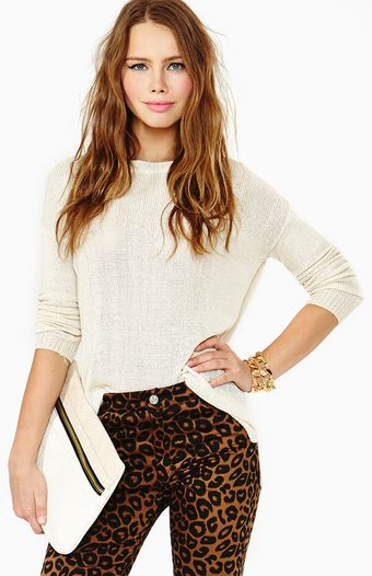 Nasty Gal Sweet Kiss Knit Ivory - Lyst