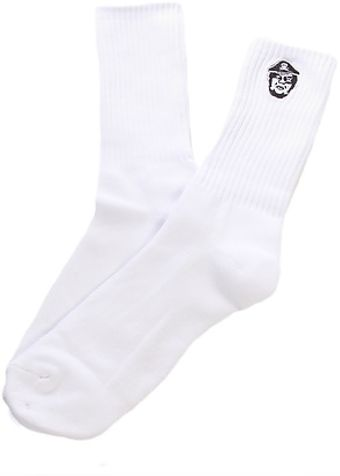 Obey The Avast Socks in White - Lyst