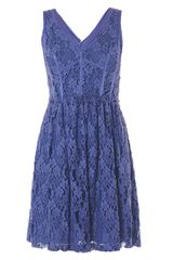 Rebecca Taylor Lace V-Neck Dress - Lyst