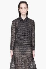 Simone Rocha Sheer and Black Embroidered Little Plastic Daisy Jacket - Lyst