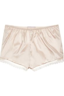 Stella McCartney Stretch-Silk Satin Shorts - Lyst