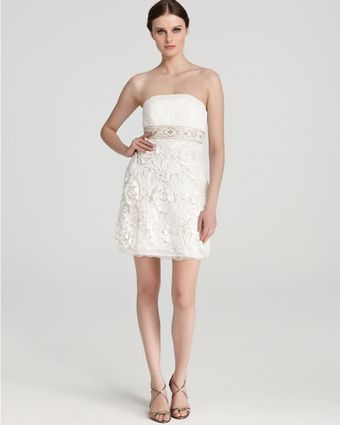 Sue Wong Strapless Dress - Lyst