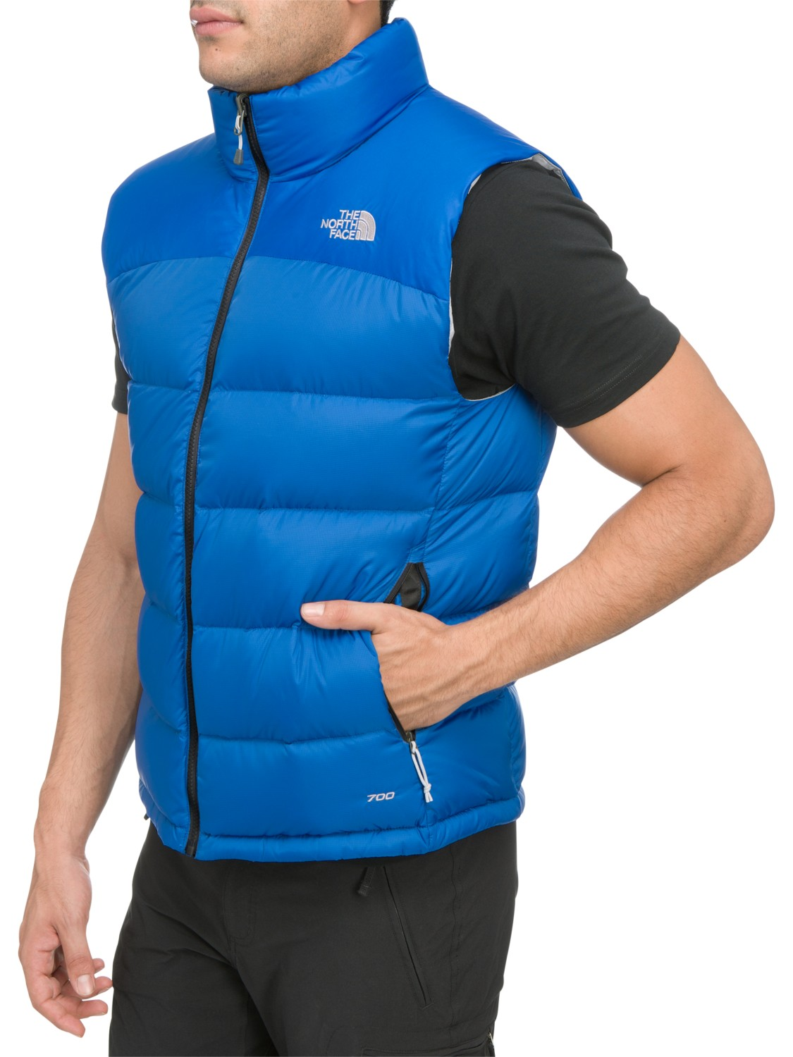 ea31a65a43 ... netherlands the north face mens nuptse vest in blue for men lyst dd785  1f168
