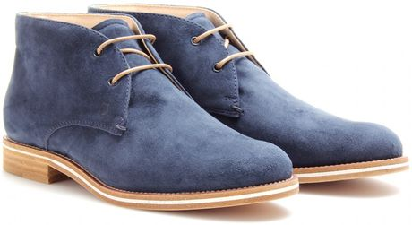 Tod's Tods No_code Suede Desert Boots in Blue (desert) - Lyst