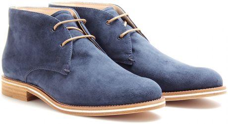 Tod's Tods No_code Suede Desert Boots in Blue (desert)