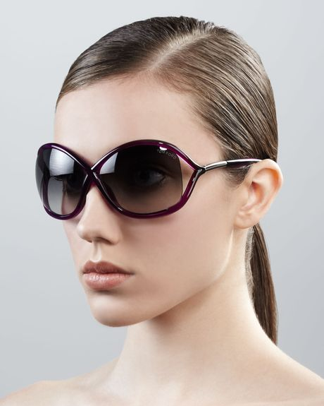 tom ford whitney bold sunglasses in purple magenta lyst. Cars Review. Best American Auto & Cars Review