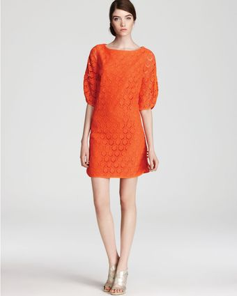 Trina Turk Lace Dress Bonfire 34 Sleeve - Lyst