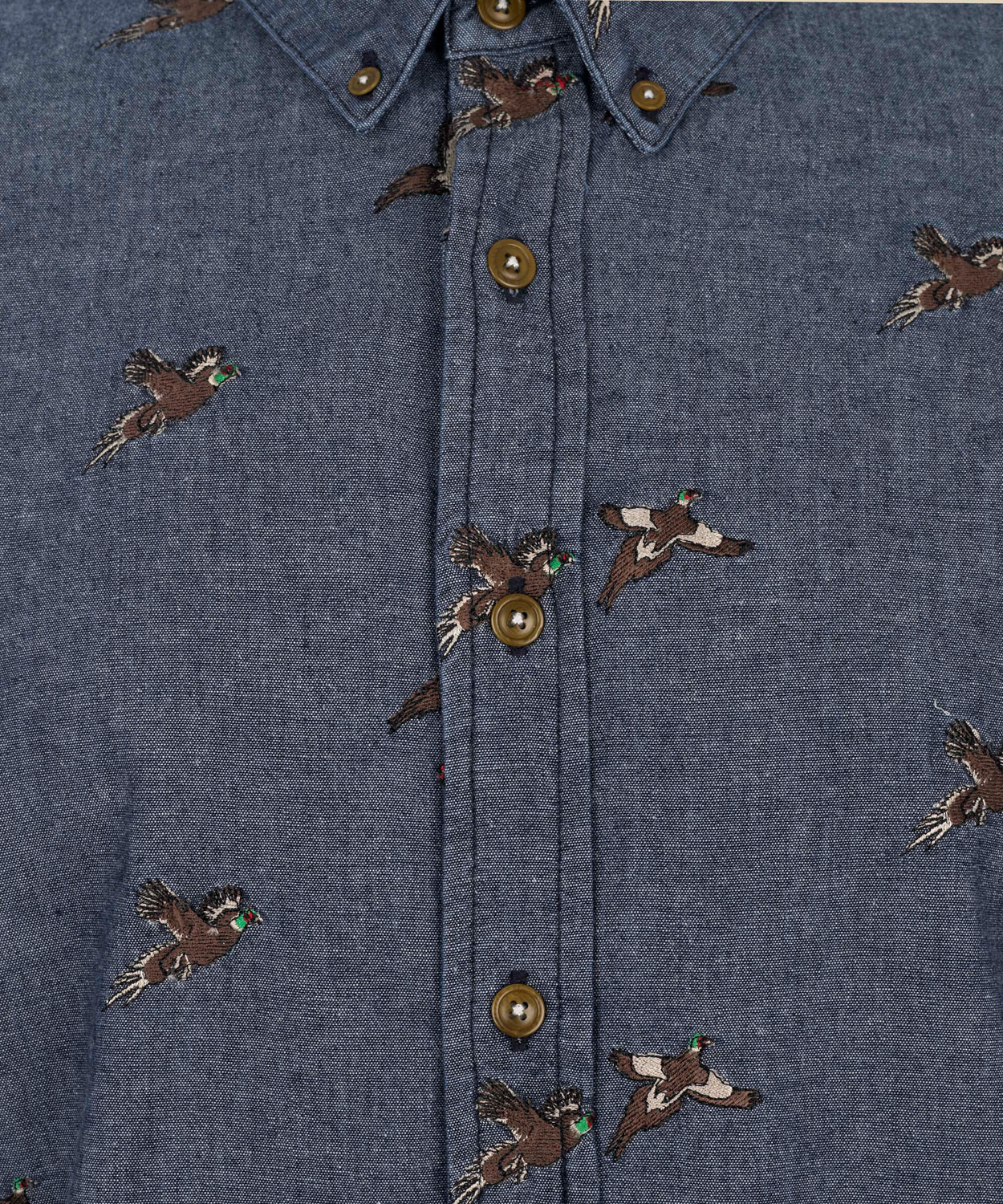 cdd9ea6d3d6 Barbour Indigo Denim Pheasant Print Shirt in Blue for Men - Lyst