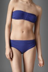 Burberry Gathered Bandeau Bikini - Lyst