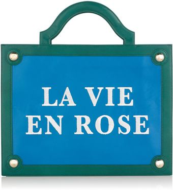 Charlotte Olympia Street Sign La Vie En Rose Leather Bag - Lyst