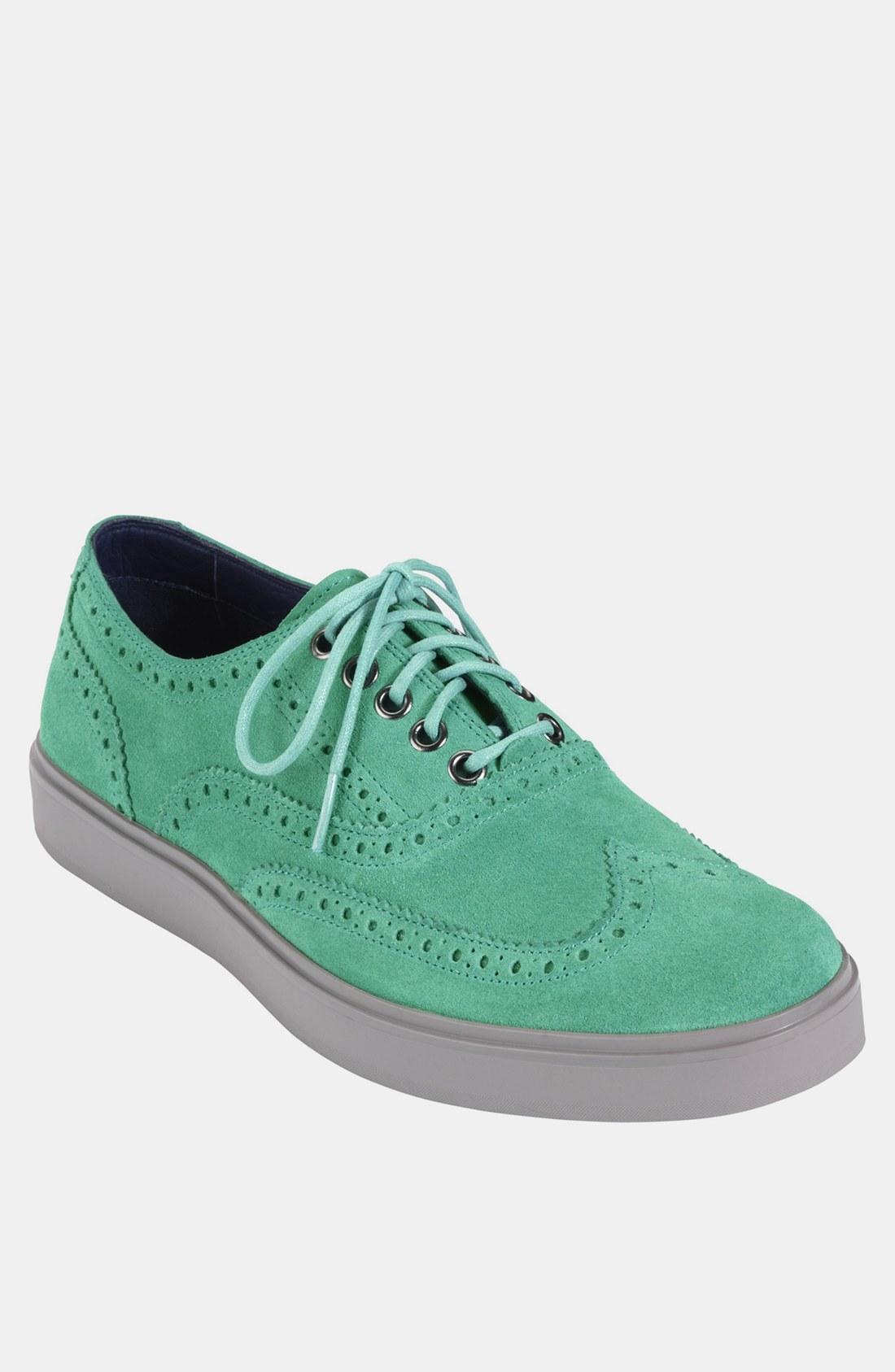 2a6b9b6d7c07d0 Cole Haan Bergen Wingtip Sneaker in Green for Men (mint