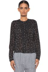 Girl. By Band Of Outsiders Long Sleeve Pintuck Shirt in Black - Lyst