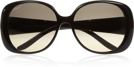 Gucci Squareframe Acetate Sunglasses in Black - Lyst