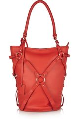 McQ by Alexander McQueen Bridle Strapdetailed Leather Tote - Lyst
