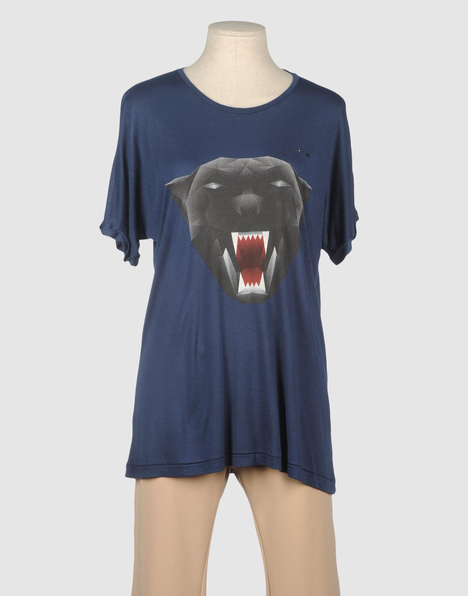 One t shirt short sleeve t shirt in blue dark blue lyst for T shirt dark blue