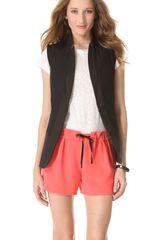 Rag & Bone Leather Trimmed Vest - Lyst
