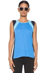 Rag & Bone The Moto Tank in Blue - Lyst