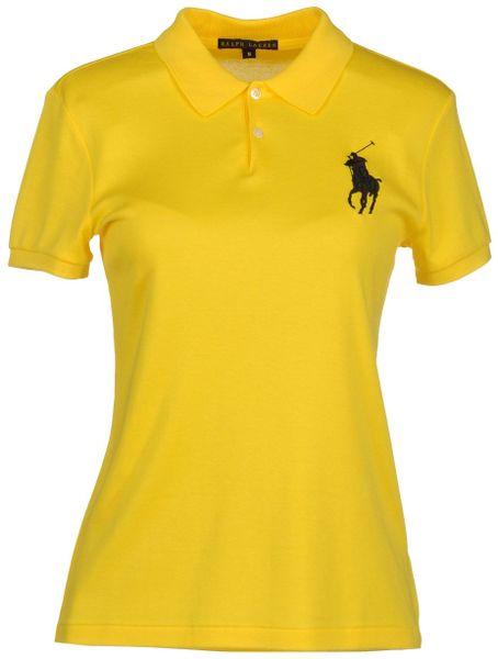 Ralph lauren black label polo shirts in yellow lyst for Ralph lauren black label polo shirt