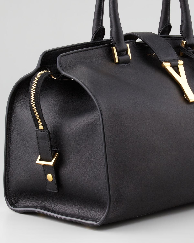 new ysl cabas chyc - Saint laurent Y Ligne Medium Soft Leather Bag in Black   Lyst
