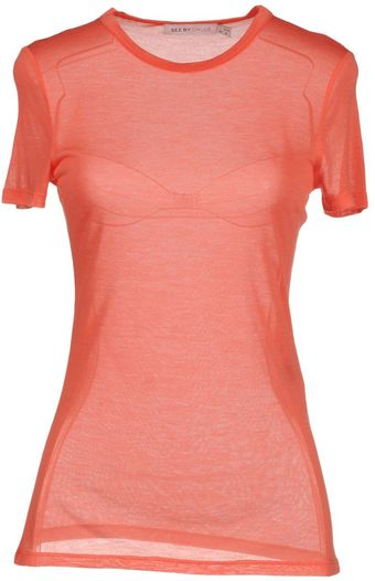 See By Chloé Short Sleeve T - Lyst